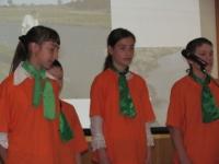 Выступление агитбригады детской организации