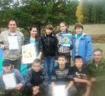Команда МКОУ СОШ д. Васькино на районном турслете