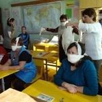Тренировка по гражданской обороне в школе